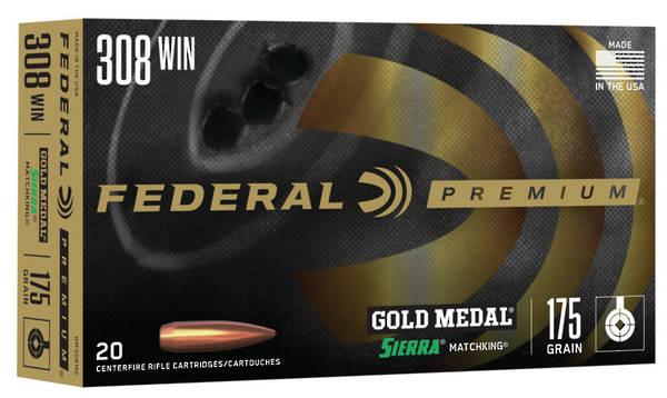 Federal Gold Medal Match .308win 175gr BTHP #GM308M2 x20