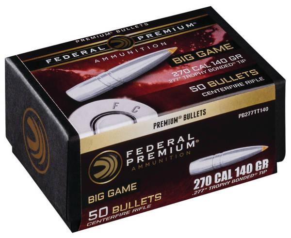 Federal Premium Bullets 270cal 140gr Trophy Bonded x50
