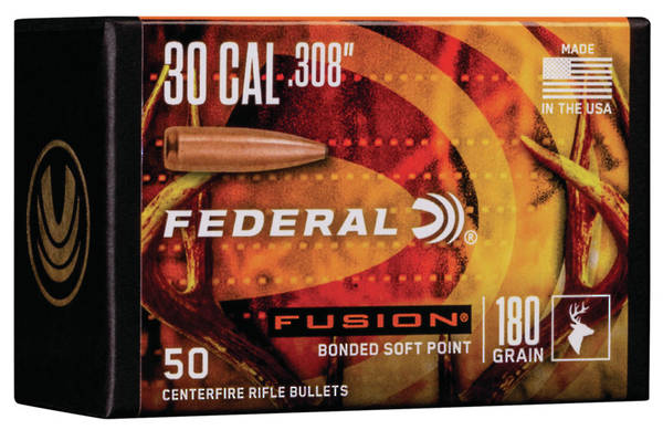 Federal Fusion Projectiles 30cal 180gr x50