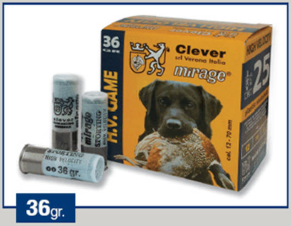 12ga Clever Mirage HV Game T3 36gram #5 250 Rounds
