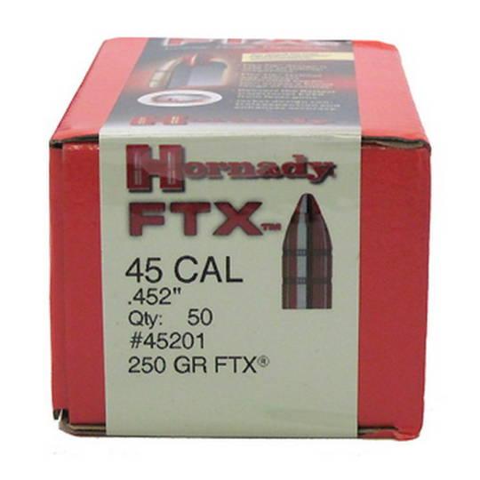 Hornady 45cal .452 250gr FTX Box of 50 #45201
