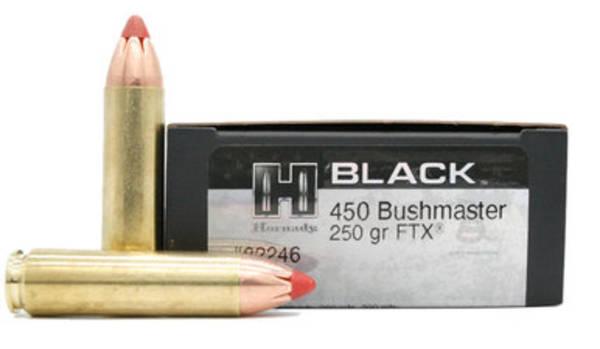 Hornady Black 450 Bushmaster 250gr FTX x20