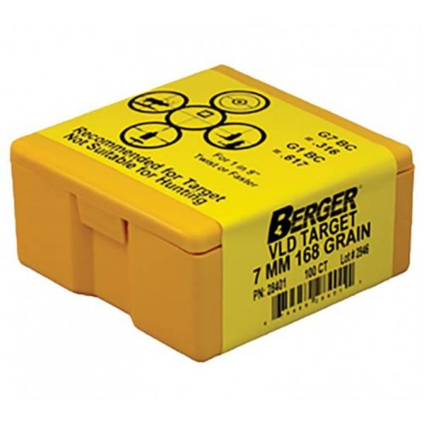 Berger 7mm 168gr VLD Target #28401