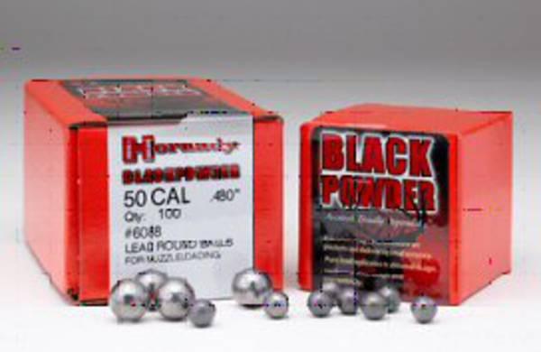 "Hornady Round Ball 50cal .490"" x100 #6090"