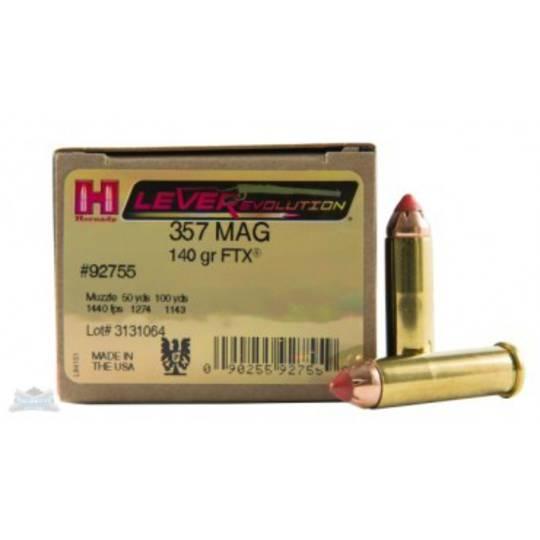 Hornady Leverevolution 357 Magnum 140gr FTX 92755