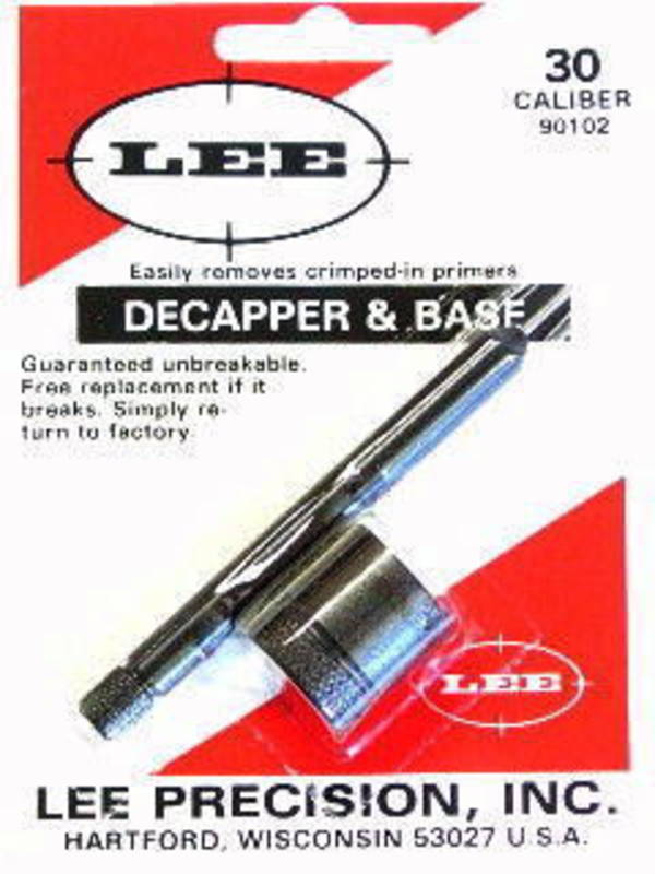Lee Decapper And Base 30 Caliber 90102