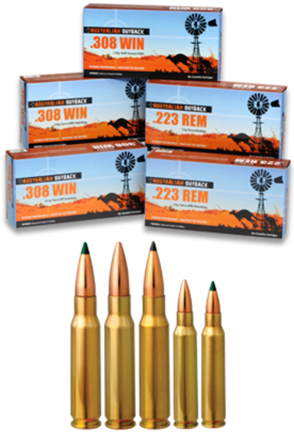 Australian Outback Ammo 308 Winchester SMK 168gr 20 Round