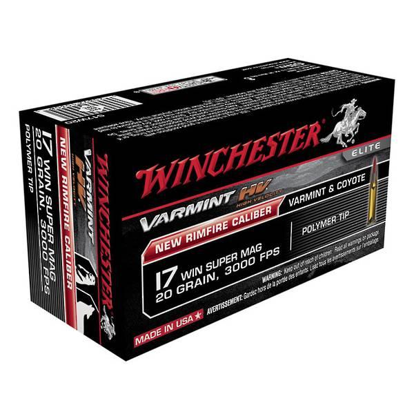 Winchester Supreme 17WSM 20gr HV x50