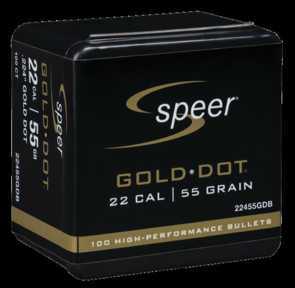 Speer Gold Dot 22cal 55gr x100 #22455GDB