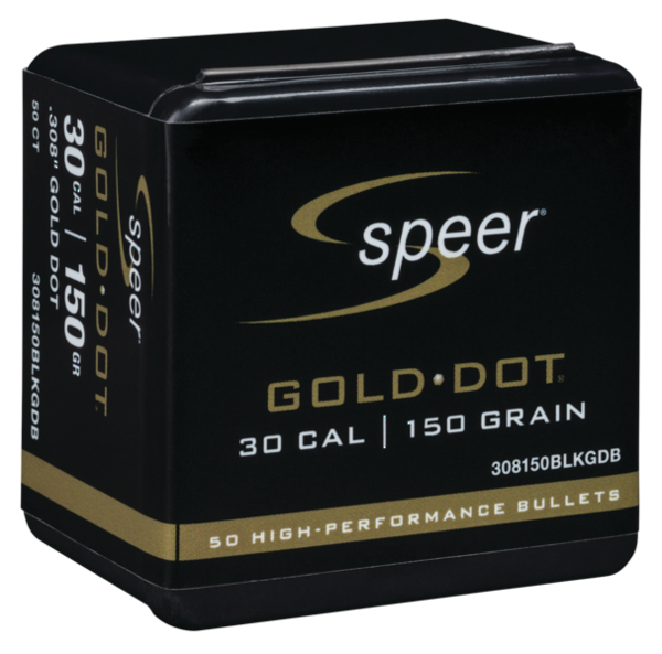 Speer Gold Dot 30Cal BlackOut 150gr x50 #308150BLKGDB