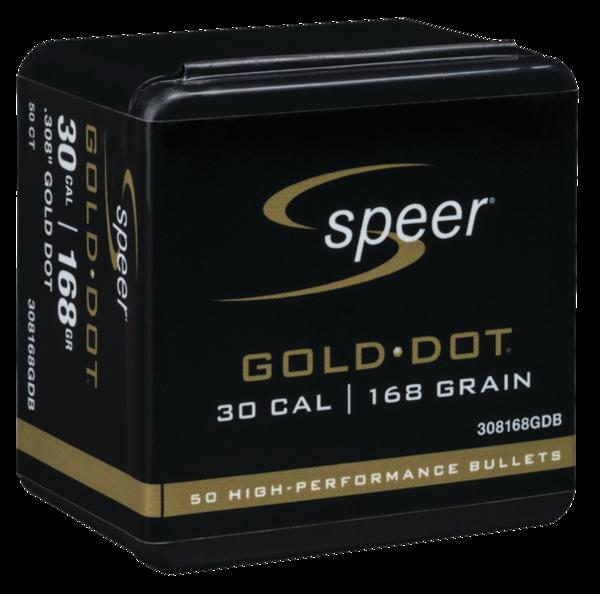 Speer Gold Dot 30Cal 168gr x50 #308168GDB