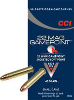 CCI Gamepoint 22WMR JSP 40gr x50