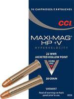 CCI .22 WMR 30gr Maxi Mag +V JHP x 50 Rounds