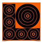 "Birchwood Casey Big Burst 3x8"", 15x4"" Bull's Eye Revealing targets"