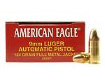 American Eagle 9mm 124gr FMJ 50 Rounds
