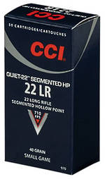 CCI Quiet Segmented .22LR 40gr HP x500