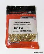 Winchester Brand Brass 222 Remington 100's  #WSC222RU