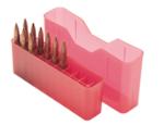 MTM Slip Top 20 Round Ammo Box270 WSM, 300 WSM, 45-70cal Clear Red