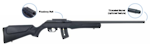 Rossi 7122M Synthetic 22WMR Bare Rifle Threaded