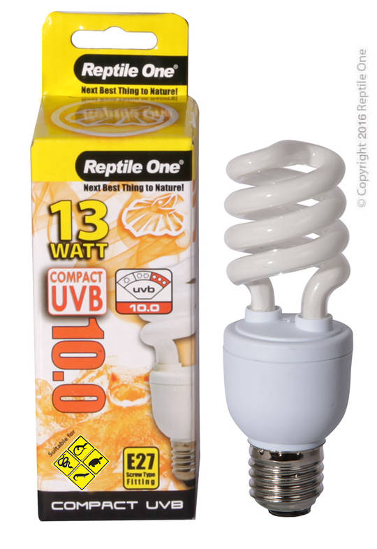 Reptile One Bulb Compact UVB 10.0 13W E27 Fitting
