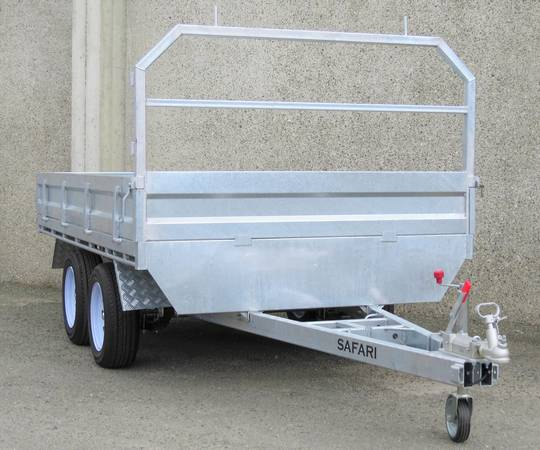 Safari 10x6 Tandem Axle Flatdeck Trailer Optional 1200mm Cage