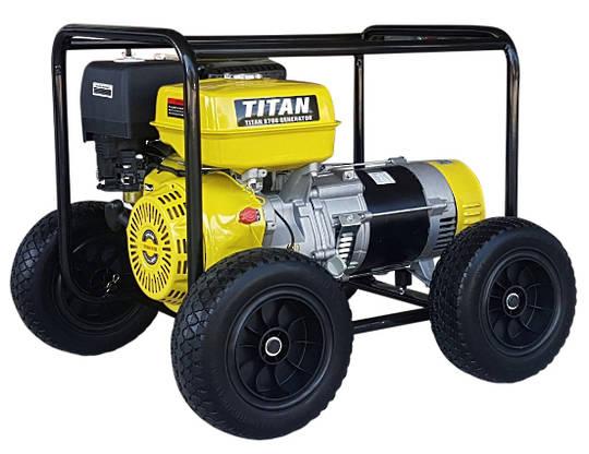 Titan 8700 7.3kW Petrol Generator With Wheels