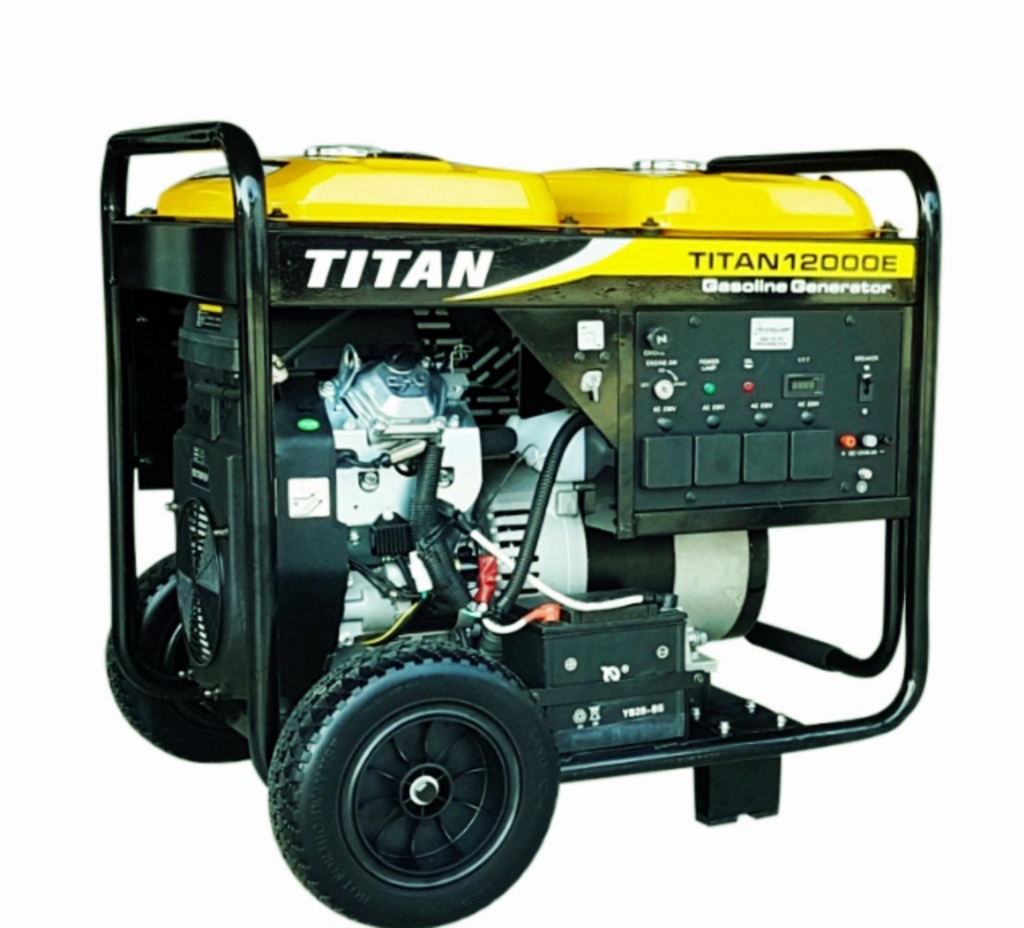 Titan 12000E 11kW Petrol Generator