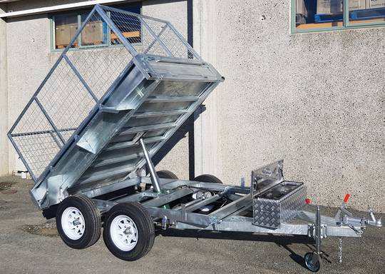 Safari Hydraulic Tipping 8x5 Tandem Axle Box Trailer Incl 900mm Cage