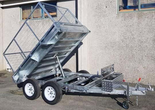 Safari Hydraulic Tipping 8x5 Tandem Axle Box Trailer Incl 900mm Cage