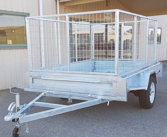 Safari 8x5 Single Axle Box Trailer Incl 900mm Cage