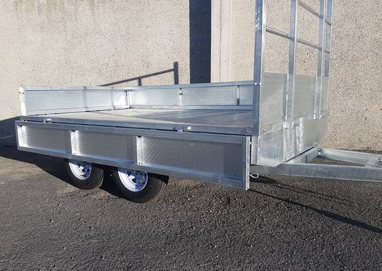 Safari 10x6 Tandem Axle Flatdeck Trailer Optional 1200mm Cage