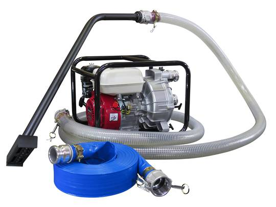 "2"" Honda Powered Trash Pump + Trough Cleaning Kit"