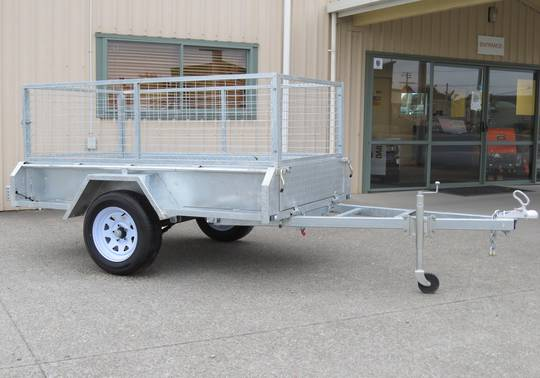 Safari 7x4 Single Axle Box Trailer Incl 600mm Cage