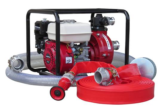 "1½"" Fire Fighter Honda Powered Pump + Hose Kit 30m"