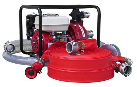 """1½"""" Fire Fighter Honda Powered Pump + Hose Kit 100m, Firefighter"""