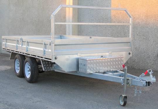 Safari 12x7 Tandem Axle Flatdeck Trailer Optional 1200mm Cage