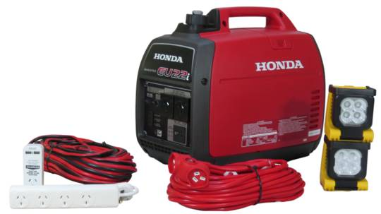 Honda EU22i Inverter Generator + Emergency Backup Kit