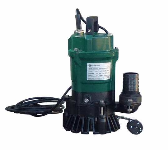 "3"" Reid Drainvac 750-3 Semi-Vortex Drainage Submersible Pump - Float Switch Included"