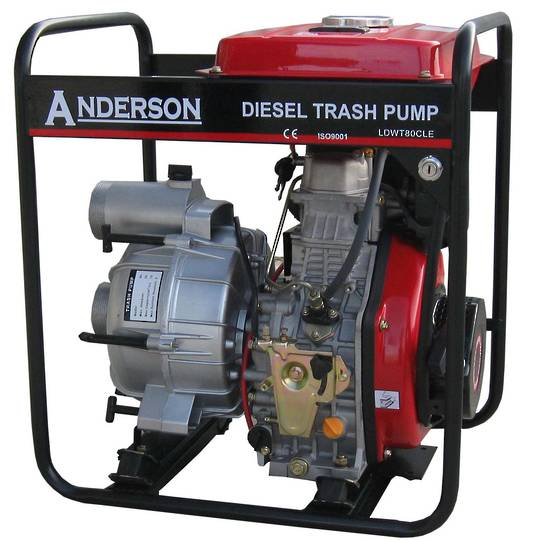 "Anderson Diesel 3"" Trash Pump Electric start"