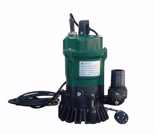 "2"" Reid Drainvac 750 Semi-Vortex Drainage Submersible Pump - Float Switch Included"