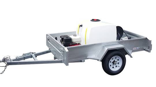 400L Trailer Mounted Honda Powered Comet Waterblaster