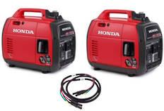 Honda EU22I Inverter Generator X 2 Incl Joining Cord