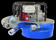 """2"""" Honda Powered Semi Trash Pump + Hose Kit"""