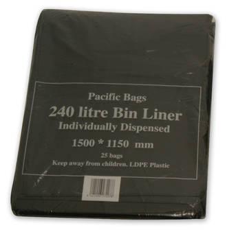 Liners Wheely Bin Black  750x400x1500 Ctn 150