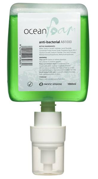 Soap Ocean Foam Anti Bacterial 6x1000ml Cartridge