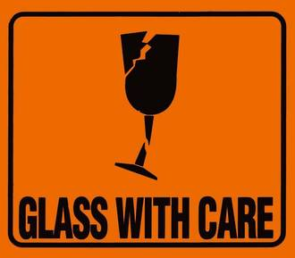 'Glass W/Care' LOR 100x72mm Roll of 660