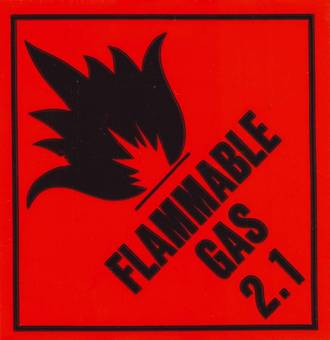 'Flam Gas 2.1' LOR 96x100mm Roll of 500