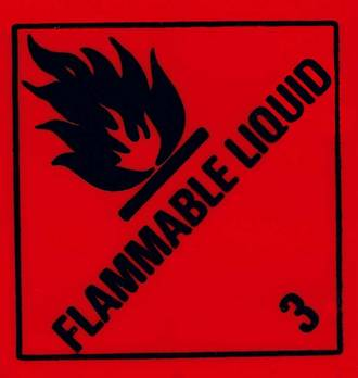 'Flam Liq 3' LOR 96x100mm Black/Red Roll of 500