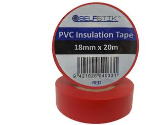 Insulation Tape  RLB 18x20m Red Ctn of 24