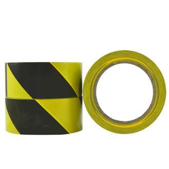 Floormarking Tape 48x33m Black/Yellow Ctn of 6